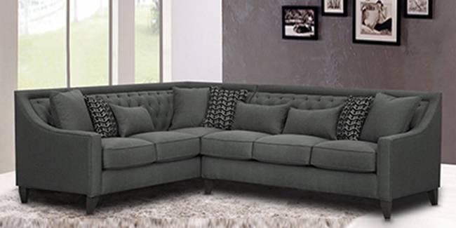 Nanjing Sectional Fabric Sofa (Grey) (Grey, None Standard Set - Sofas, Fabric Sofa Material, Regular Sofa Size, Soft Cushion Type, Sectional Sofa Type, Left Sectional Sofa Custom Set - Sofas)