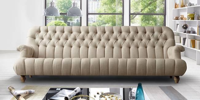 Raleigh Fabric Sofa(Beige) (3-seater Custom Set - Sofas, None Standard Set - Sofas, Beige, Fabric Sofa Material, Regular Sofa Size, Regular Sofa Type)