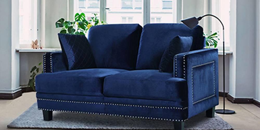 Paris Fabric Sofa (Navy Blue) by Urban Ladder - -