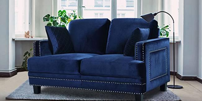 Paris Fabric Sofa (Navy Blue) (2-seater Custom Set - Sofas, None Standard Set - Sofas, Navy Blue, Fabric Sofa Material, Regular Sofa Size, Regular Sofa Type)