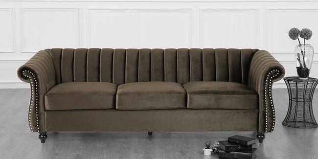 Siena Fabric Sofa (Brown) (Brown, 3-seater Custom Set - Sofas, None Standard Set - Sofas, Fabric Sofa Material, Regular Sofa Size, Regular Sofa Type)