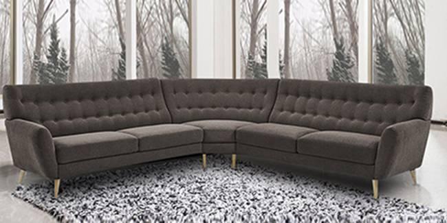 Perth Sectional Fabric Sofa (Grey) (Grey, None Standard Set - Sofas, Fabric Sofa Material, Regular Sofa Size, Soft Cushion Type, Sectional Sofa Type, Left Sectional Sofa Custom Set - Sofas)