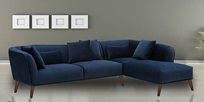 Colwell Sectional Fabric Sofa (Navy Blue) (None Standard Set - Sofas, Navy Blue, Fabric Sofa Material, Regular Sofa Size, Soft Cushion Type, Sectional Sofa Type, Left Sectional Sofa Custom Set - Sofas)