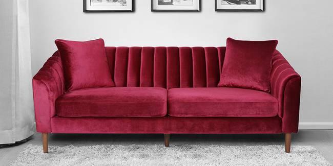 Trento Fabric Sofa (Red) (Red, 3-seater Custom Set - Sofas, None Standard Set - Sofas, Fabric Sofa Material, Regular Sofa Size, Regular Sofa Type)
