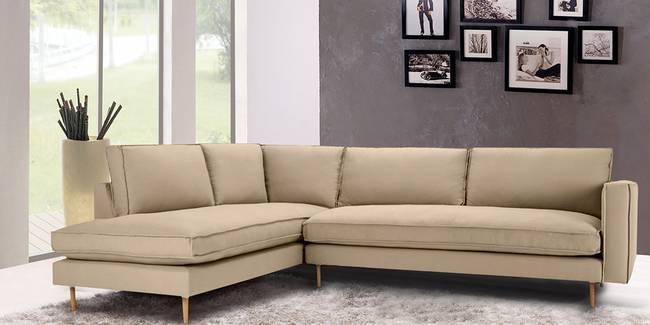 Tisca Sectional Fabric Sofa (Beige) (None Standard Set - Sofas, Beige, Fabric Sofa Material, Regular Sofa Size, Soft Cushion Type, Sectional Sofa Type, Right Sectional Sofa Custom Set - Sofas)