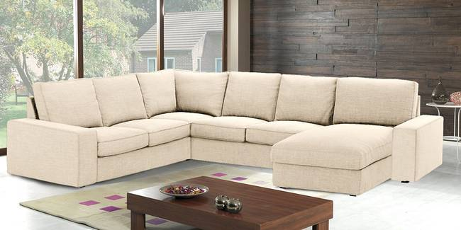 Vancouver Sectional Fabric Sofa(Beige) (None Standard Set - Sofas, Beige, Fabric Sofa Material, Regular Sofa Size, Soft Cushion Type, Sectional Sofa Type, Left Sectional Sofa Custom Set - Sofas)