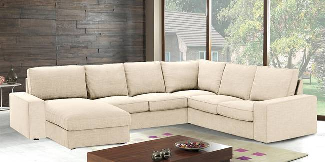 Tucson Sectional Fabric Sofa (None Standard Set - Sofas, Beige, Fabric Sofa Material, Regular Sofa Size, Soft Cushion Type, Sectional Sofa Type, Right Sectional Sofa Custom Set - Sofas)