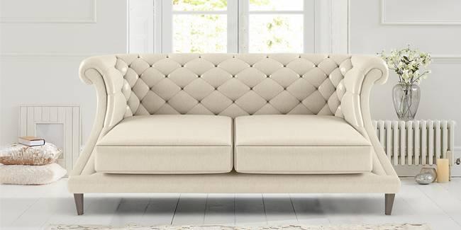 Clayton Leatherette Sofa (Beige) (3-seater Custom Set - Sofas, None Standard Set - Sofas, Beige, Leatherette Sofa Material, Regular Sofa Size, Regular Sofa Type)