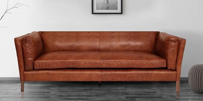 Bergen Leatherette Sofa (Tan Brown) (3-seater Custom Set - Sofas, None Standard Set - Sofas, Leatherette Sofa Material, Regular Sofa Size, Regular Sofa Type, Tan Brown)