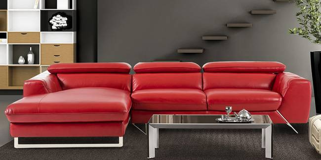 Milan Sectional Leaatherette Sofa (Red, None Standard Set - Sofas, Leatherette Sofa Material, Regular Sofa Size, Soft Cushion Type, Sectional Sofa Type, Right Sectional Sofa Custom Set - Sofas)