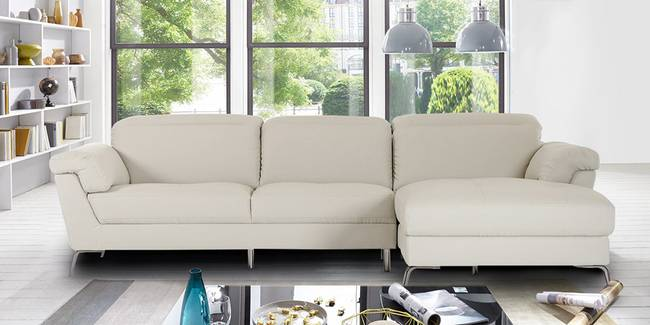 Shannon Leatherette Sofa(Beige) (None Standard Set - Sofas, Beige, Leatherette Sofa Material, Regular Sofa Size, Soft Cushion Type, Sectional Sofa Type, Left Sectional Sofa Custom Set - Sofas)