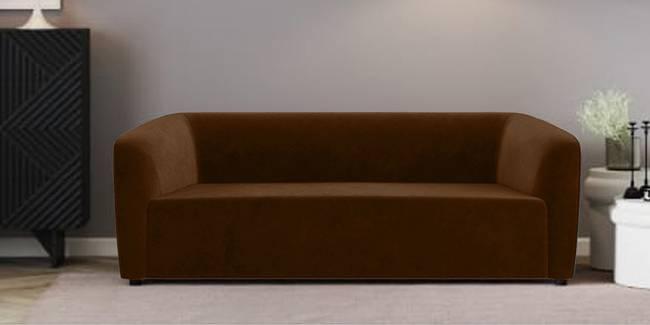 Berlin Fabric Sofa (Brown) (Brown, 1-seater Custom Set - Sofas, None Standard Set - Sofas, Fabric Sofa Material, Regular Sofa Size, Regular Sofa Type)