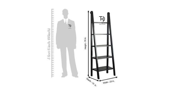 Ikshita Bookshelf (Black, Melamine Finish) by Urban Ladder - Design 1 Dimension - 364895