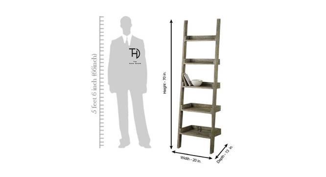 Jasmine Bookshelf (Melamine Finish, Mango Natural) by Urban Ladder - Design 1 Dimension - 364897