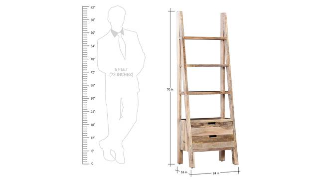 Meghana Bookshelf (Melamine Finish, Mango Natural) by Urban Ladder - Design 1 Dimension - 364945