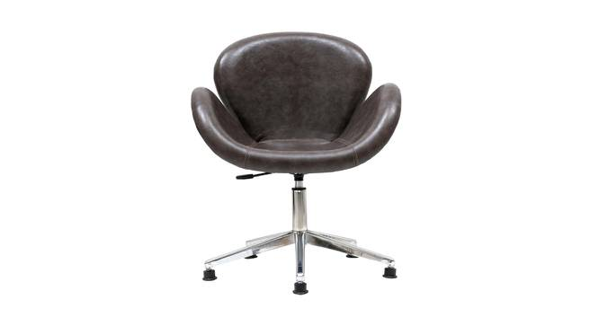 Caiden Office Chair (Black & Chrome) by Urban Ladder - Cross View Design 1 - 364980