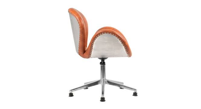 Jay Office Chair (Grey & Chrome) by Urban Ladder - Front View Design 1 - 364993