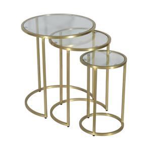 Romy Nested Table (Brass, Brass Finish) by Urban Ladder - Design 1 - 365083