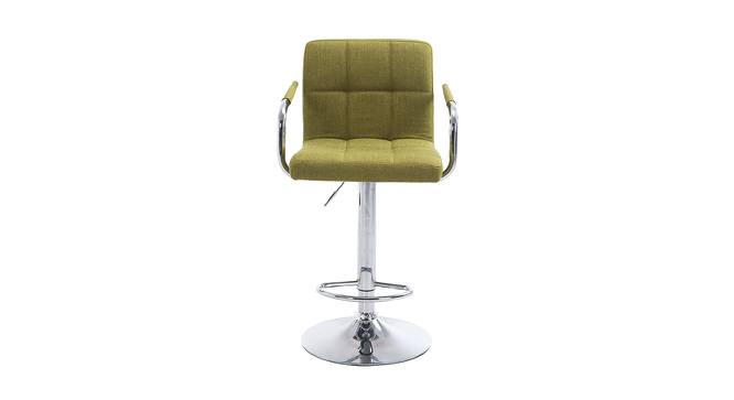 Ashe Bar Stool (Light Green, Metal & Leatherette Finish) by Urban Ladder - Front View Design 1 - 365140