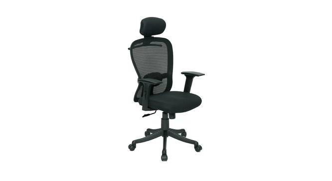 Bourne Study Chair (Black) by Urban Ladder - Cross View Design 1 - 365228