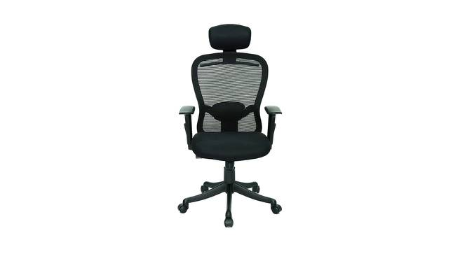 Bourne Study Chair (Black) by Urban Ladder - Front View Design 1 - 365246