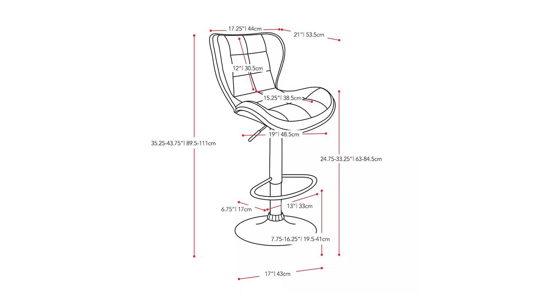 Dart bar stool 6