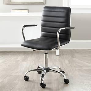 Dasie Study Chair (Black) by Urban Ladder - Cross View Design 1 - 365546