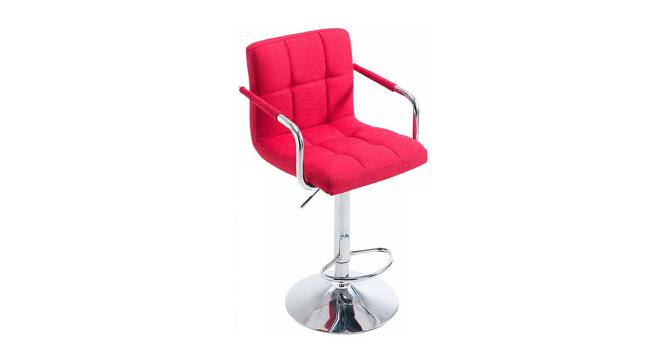 Halsey Bar Stool (Red, Metal & Leatherette Finish) by Urban Ladder - Cross View Design 1 - 365673