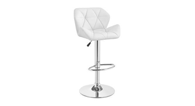 Landan Bar Stool (White, Metal & Leatherette Finish) by Urban Ladder - Cross View Design 1 - 365775