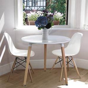Zoya 3 Seater Dining Table (White, Gloss Finish) by Urban Ladder - Cross View Design 1 - 365997