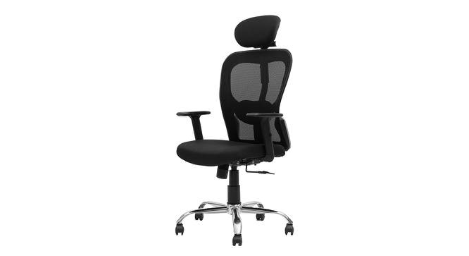 Sinclair Study Chair (Black) by Urban Ladder - Front View Design 1 - 366000