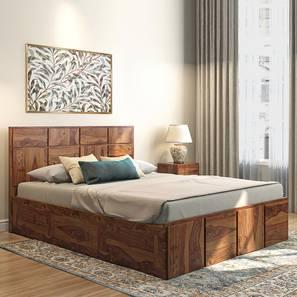 Astoria Storage Bed (Teak Finish, Queen Size) by Urban Ladder - Full View Design 1 - 384826
