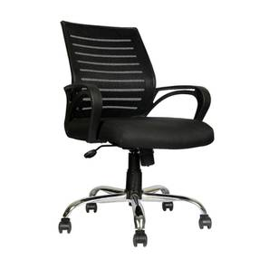 Linzi Study Chair (Black) by Urban Ladder - Cross View Design 1 - 366350