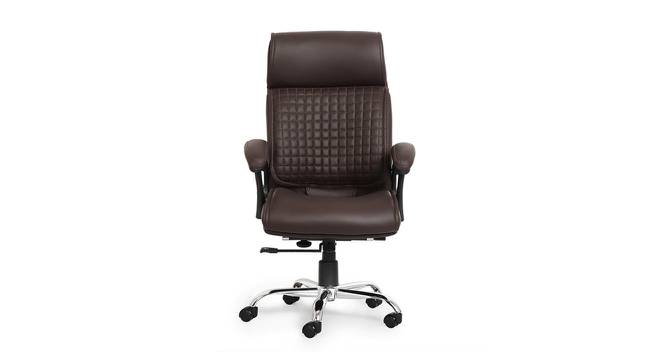 Brandalynn Study Chair (Brown) by Urban Ladder - Front View Design 1 - 366381