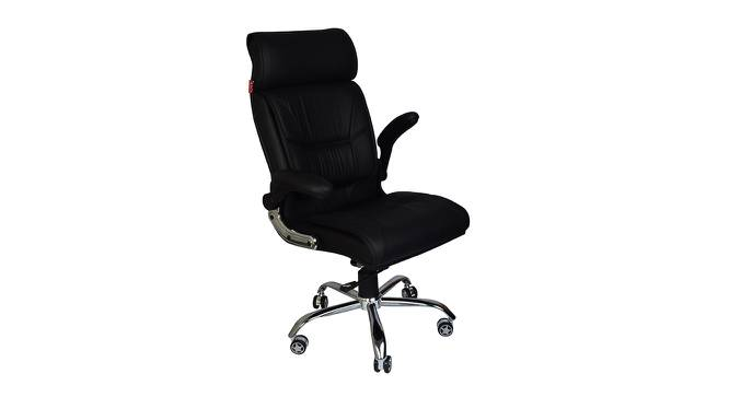 Ronson Study Chair (Black) by Urban Ladder - Cross View Design 1 - 366448