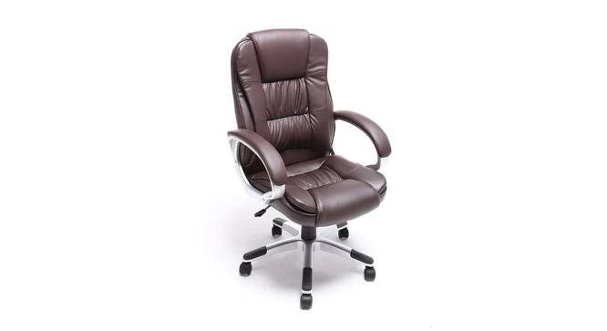 Rocklin Study Chair (Brown) by Urban Ladder - Cross View Design 1 - 366460