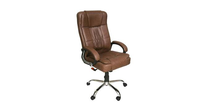 Willey Study Chair (Brown) by Urban Ladder - Cross View Design 1 - 366464