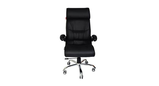 Ronson Study Chair (Black) by Urban Ladder - Front View Design 1 - 366467