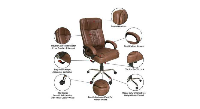 Willey Study Chair (Brown) by Urban Ladder - Front View Design 1 - 366483