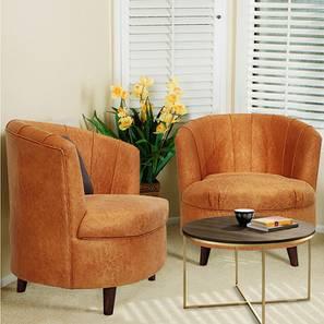 Bergen Lounge Chair (Mustard, Matte Finish) by Urban Ladder - Cross View Design 1 - 366634
