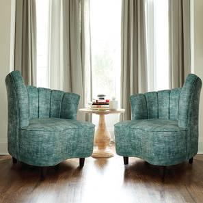 Georgetown Lounge Chair (Green, Matte Finish) by Urban Ladder - Cross View Design 1 - 366820