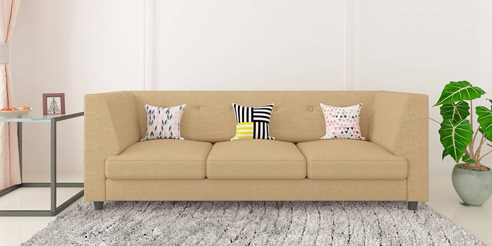 Flamingo Fabric Sofa - Beige by Urban Ladder - -