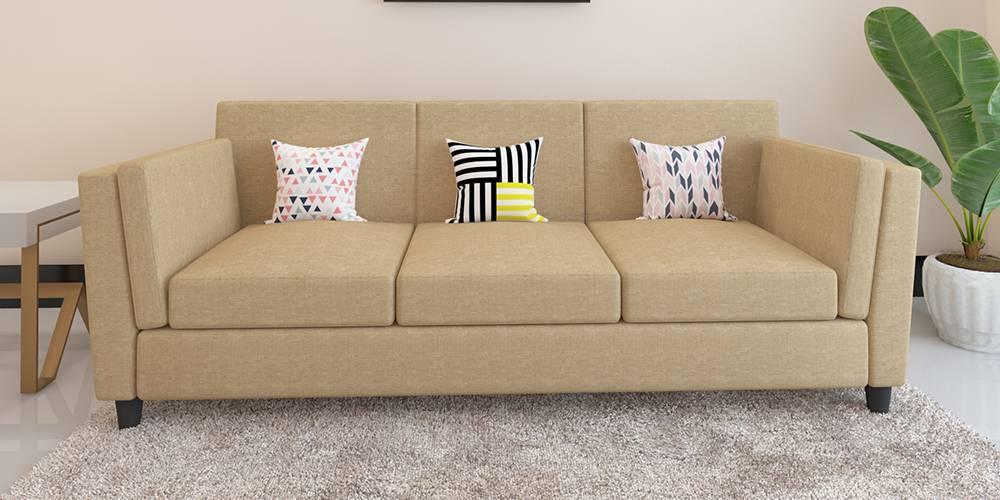 Cabana Fabric Sofa - Beige by Urban Ladder - -