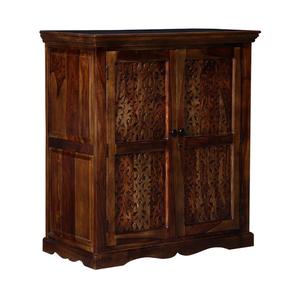 Dhriti Bar Cabinet (Semi Gloss Finish, PROVINCIAL TEAK) by Urban Ladder - Cross View Design 1 - 367273
