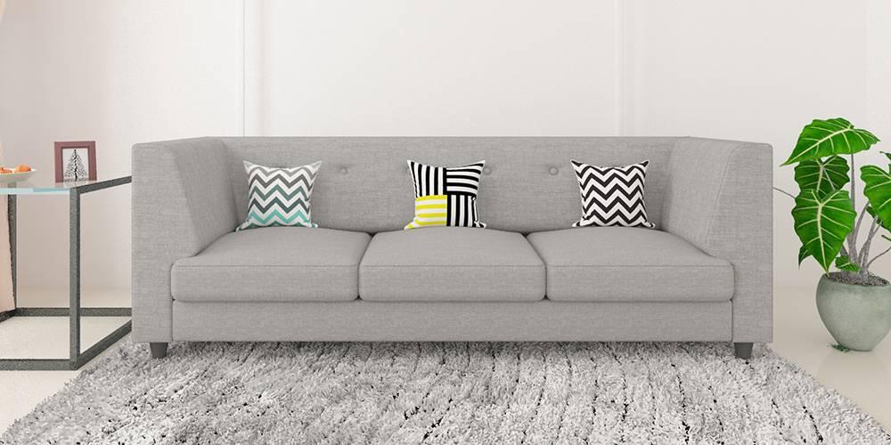 Flamingo Fabric Sofa - Light Grey by Urban Ladder - -