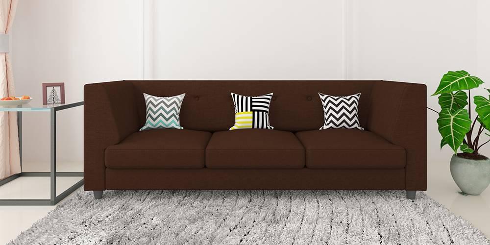 Flamingo Fabric Sofa - Brown by Urban Ladder - -