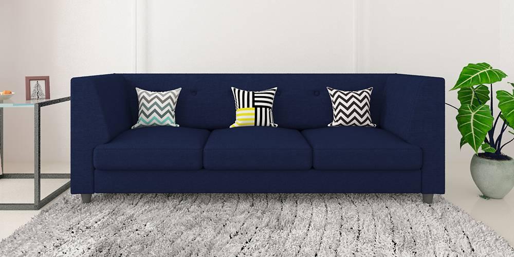 Flamingo Fabric Sofa - Navy Blue by Urban Ladder - -