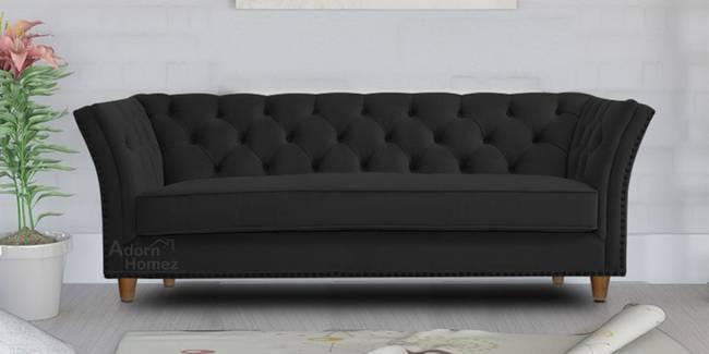 Gilmore Fabric Sofa - Black (Black, 3-seater Custom Set - Sofas, None Standard Set - Sofas, Fabric Sofa Material, Regular Sofa Size, Regular Sofa Type)