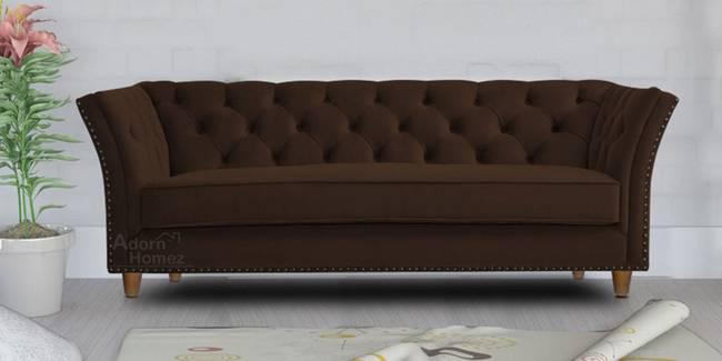 Gilmore Fabric Sofa - Brown (Brown, 3-seater Custom Set - Sofas, None Standard Set - Sofas, Fabric Sofa Material, Regular Sofa Size, Regular Sofa Type)
