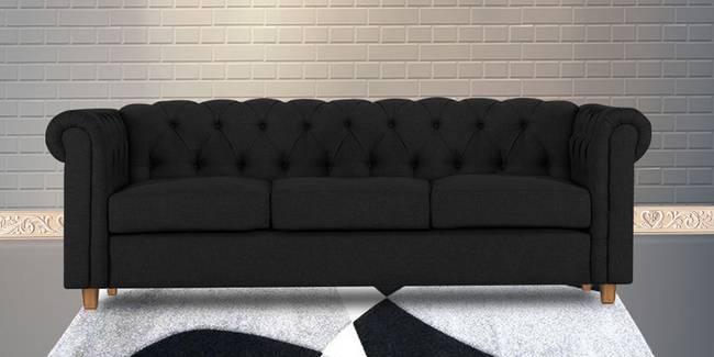 Starthford Fabric Sofa- Black (Black, 3-seater Custom Set - Sofas, None Standard Set - Sofas, Fabric Sofa Material, Regular Sofa Size, Regular Sofa Type)